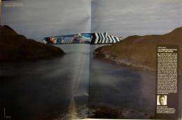 Costa Concordia shipwreck: Double page in Geo magazine (French Magazine)