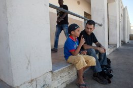 Meeting a Palestinian child from Syria refugee in Malta, summer 2013. Photo credit: Heidi Levine/SIPA Press