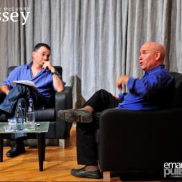 Interviewing Steve McCurry, Valletta 2012