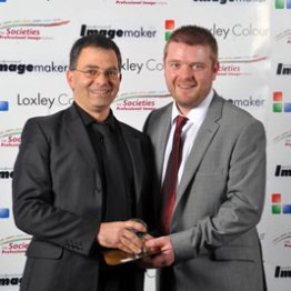 Media Photographer of the Year 2013. Ben Jones Societies' Online News Editor with Darrin Zammit Lupi, London 2014